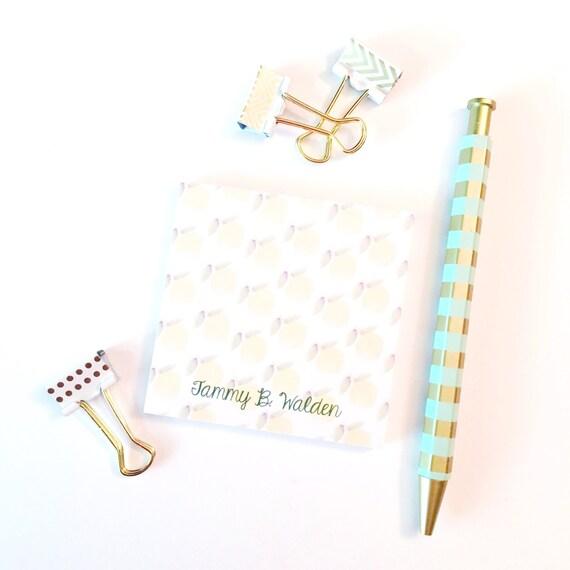 Personalized Lemon Print Sticky Notes