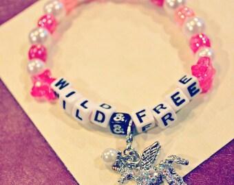 Wild&Free Kandi Bracelet with Unicorn Charm
