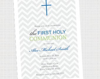 Communion Baptism Invitation | First Holy Communion | Communion Party Invite {Digital File} Baptism Christening