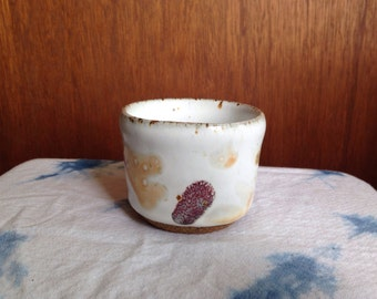White/Orange/Pink Ceramic Cup