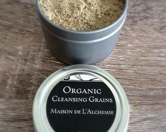 Organic FACIAL CLEANSING GRAINS -Anti-Aging, Sensitive Skin, Rosacea, Wrinkles, Sun Damage,Organic Cleanser, Vegan Skin Care