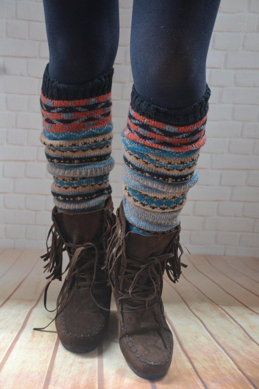 Bohemia socksChristmas legwearBohemia leg warmers Knit