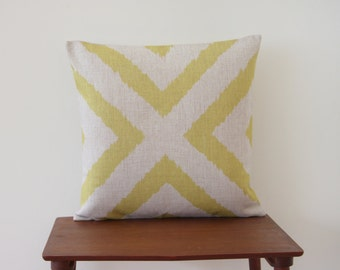 "18""x18"" Yelow Cross Decorative Pillow Cover Geometric Pattern Cushion Cover Throw Cushion Cover #73"