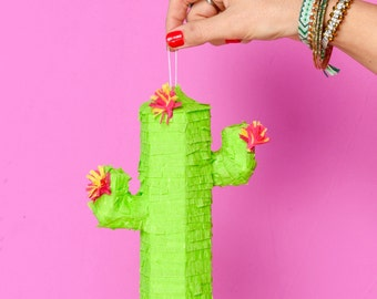 Mini Cactus Pinatas, (3) Party Decorations, Fiesta, Cinco de Mayo, Party Favors, Mexican Theme Party, Bachelorette, Birthdays Set of 3