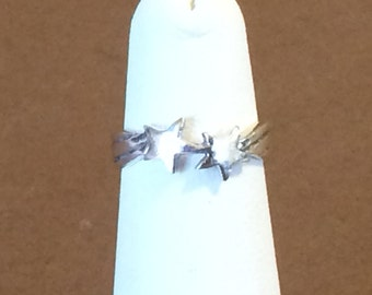 Size 4 Adjustable Sterling Silver Shooting Stars Toe Ring