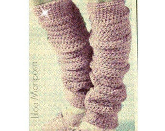 Leg warmers Pattern Boot Knee Socks Pattern Legwarmers Pattern Boot Socks Pattern Vintage 50s KNITTING PATTERN
