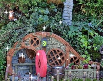 Fairy garden house, miniature house, hobbit house, miniature garden, gnome house, woodland house, fairy garden door, miniature door