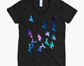 Birds Tshirt - Bird T Shirt - Womens T Shirt - Birds Graphic Tee