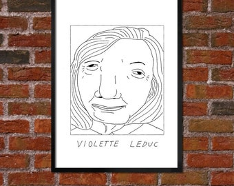 Badly Drawn Violette Leduc - Literary Poster - *** BUY 4, GET A 5th FREE***