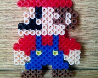 Decorative Mario made with perler
