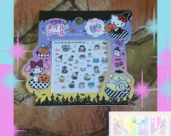 Halloween Themed Nail Decals Sanrio Officially Licensed