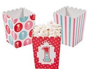 1st Birthday Circus Popcorn Boxes