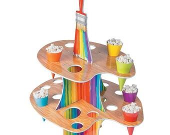 Artist treat holder/cupcake holder/ centerpiece /Painter's theme party/ Artist theme Party