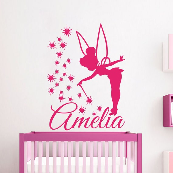 Personalized Name Wall Decals Fairy Decal Vinyl by CozyDecal