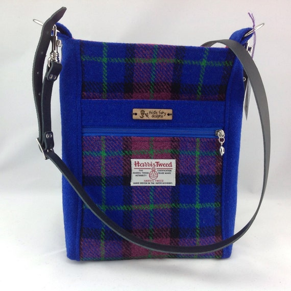 checked harris tweed crossbody bag checked tweed shoulder