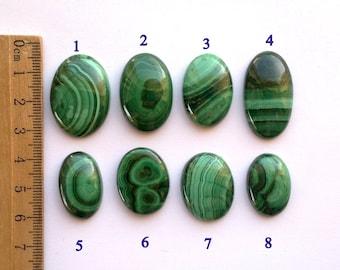 One Malachite Cabochon Green Cab Natural Stone Malachite Supply Jewelry Making Jewellery Design Loose Cabs Precious Stones Loose Malachite