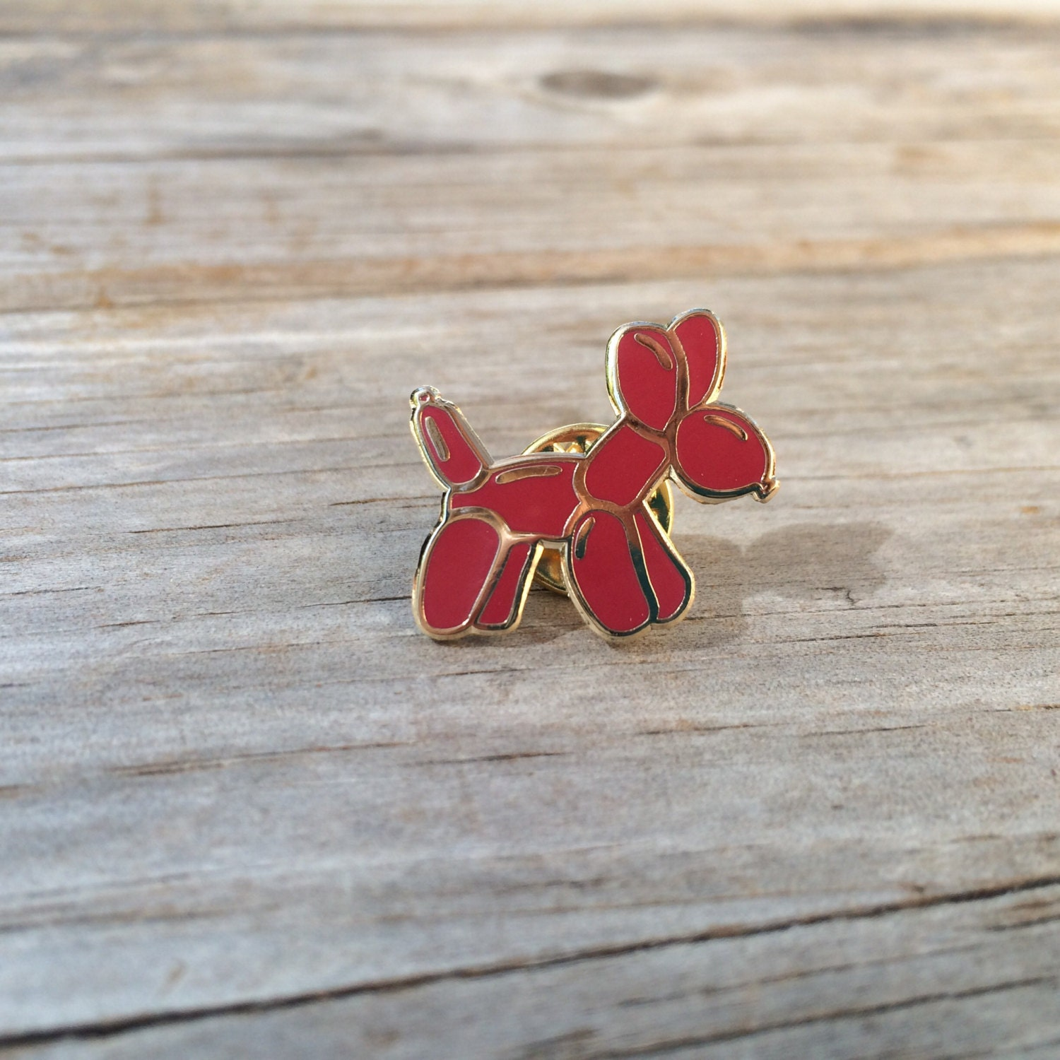 red balloon dog enamel pin hard enamel pin brooch gold pin