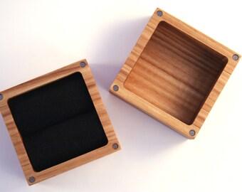 Ash wood Ring box. Ascetic design ring box.