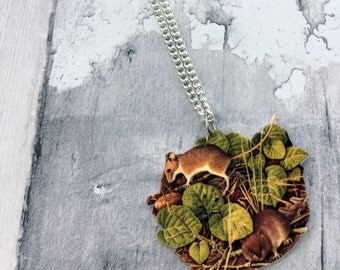 Field Mouse Vole Rodent Necklace