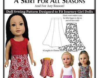 A Skirt for All Seasons – Journey Girl Doll Skirt Sewing Pattern PDF