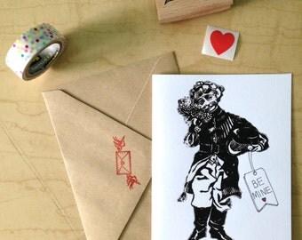 Be Mine - Valentine - Greeting Card