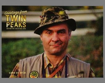 Twin Peaks Gold Box Postcard Card # 55 of 61 Dead Laura Palmer