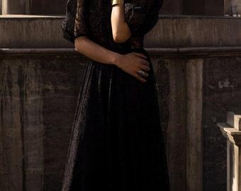 Vintage Black Lace 1950's Dress