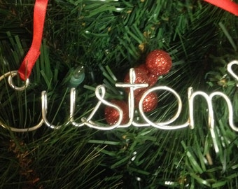 1 Custom ornament