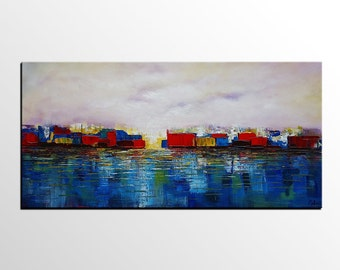 Palette Knife Painting Large Painting Oil Painting Large Art Painting Canvas Art Framed Wall Art Abstract Art Abstract Landscape Painting