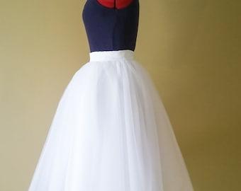 White wedding tutu, Adult sewn tutu, puffy tulle skirt, bridal clothing, Plus size clothing, satin slip, Knee length, bachelorette skirt