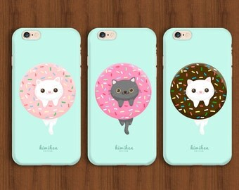 Donut Cat, Cat iPhone Case ,Donut iPhone Case, iPhone 6 case, iPhone 6s Case, iPhone 6 Plus Case, iPhone 7 Case, Donut Case, Cat Case, S6