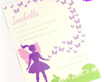 FAIRY GARDEN INVITATION, Printable, Personalized, Fairy Birthday, Woodland Fairy Invitation, Butterfly, Girls Invitation, Print Yourself diy