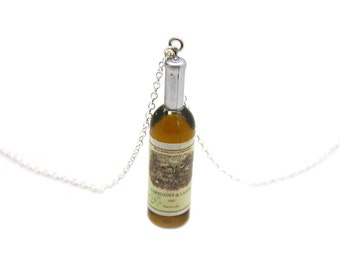 Wine Bottle Necklace, Charm Necklace, Wine Charm Jewelry, Wine Lover Charm, Wine Pendant, Bottle Charm, Bottle Wine Charm, Wine Bottle Charm