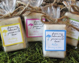 baby shower favor soap oatmeal honey organic soap baby shower soap favor blue shower favor baby
