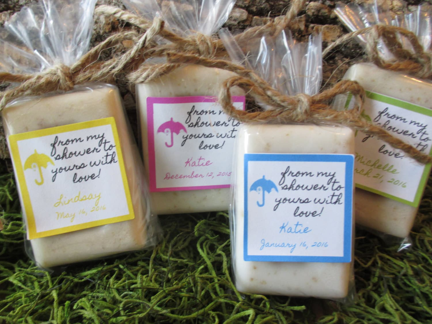 baby shower favor soap oatmeal honey organic soap baby shower