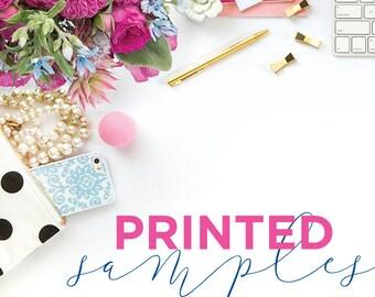 Printed Samples