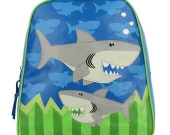Stephen Joseph Go Go Backpack for Boys Shark Monogrammed School Backpack