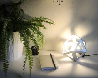 Origami silver chrome lamp