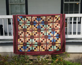 Stained Glass - Quilted Plush Throw