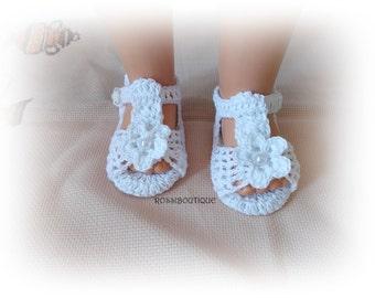 Crochet sandals, Crochet baby sandals, White baby sandles, Baby summer sandals, White sandals, Newborn sandals, barefoot baby sandals