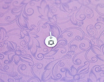 Hand Stamped Adoption Charm - Adoption - Adoption Symbol - Surrogacy  - Surrogate Mother - Gotcha Day - Hand Stamped Jewelry