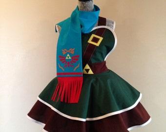 Link with Scarf - Navi - Zelda - Link apron - retro apron - costume cosplay -Link Costume - womens apron