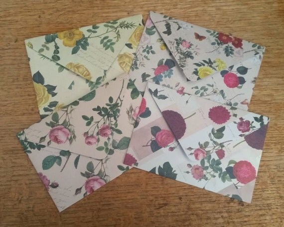 envelopes c6 floral envelopes handmade decorative envelopespatterned envelopes for snail mail and - Decorative Envelopes