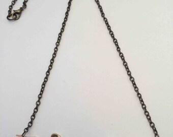 Brass 'Signature' necklace