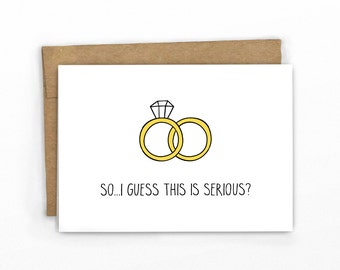 Wedding Congrats Card ~ So This is Serious by Cypress Card Co.