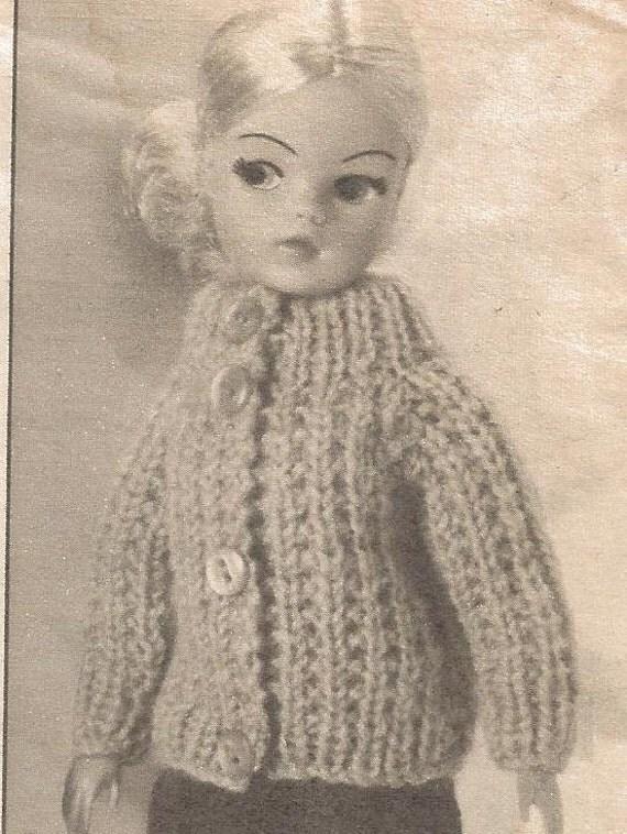 Vintage Knitting Pattern Sindy Dolls 70s Magazine Pattern