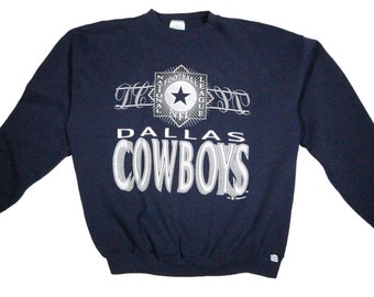 Vintage Dallas Cowboys Screenprint Sweatshirt - 1990's - Size Large