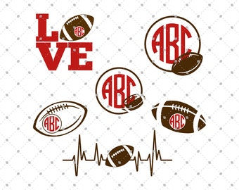 football svg cut files football monogram frames cut files for silhouette cut files for cricut svg files svg files
