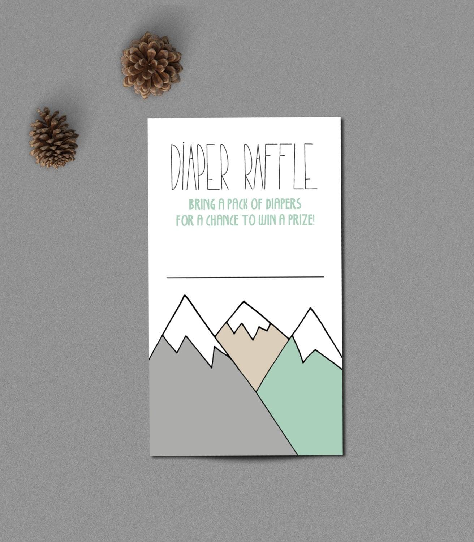 diaper raffle card raffle ticket insert baby shower printable