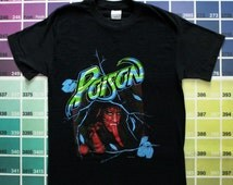 Vintage Poison shirt men S | Poison band tee shirts women M L | 1988 Open Up and Say Ahh tour t shirt 1980s | 80s tshirt vintage glam metal